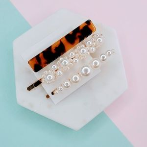 5 for $25 Set of 3 Acrylic Barrette Hair Pins